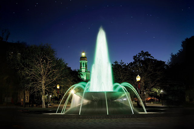 Baylor University Downtown Tower Fountain