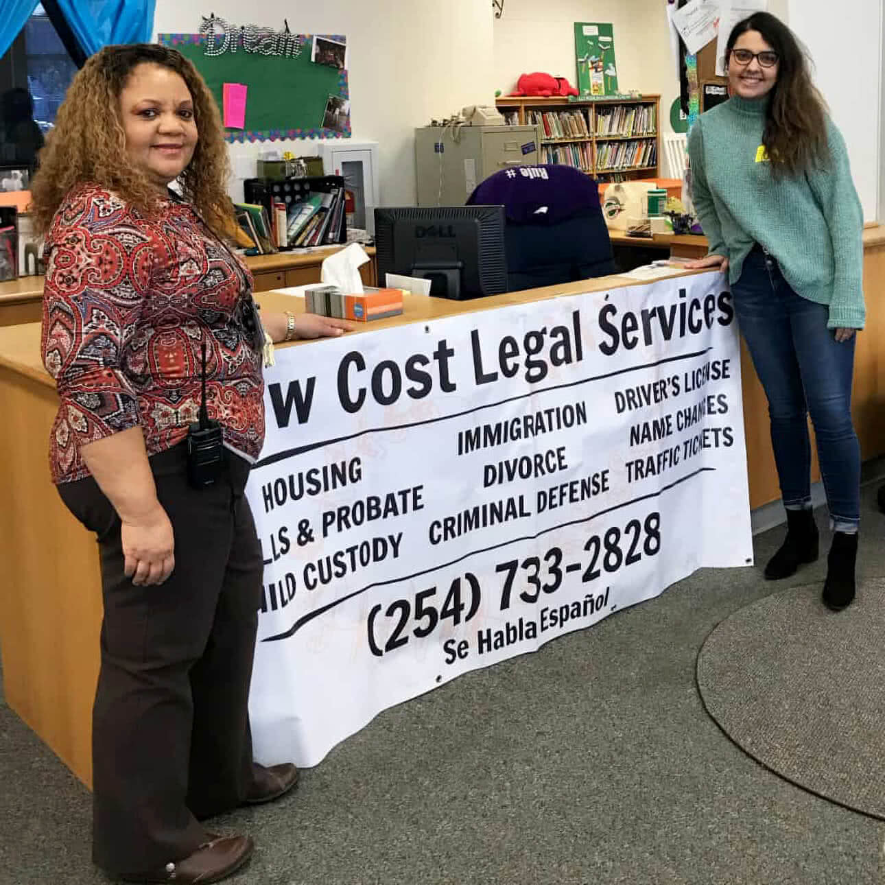 Greater Waco Legal Services staff helping the community.
