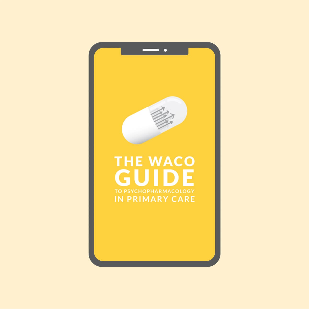 The Waco Guide to Psychopharmacology in Primary Care link inside a mobile phone.